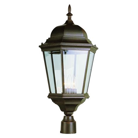 Bel Air Lighting 3 Light Outdoor Post Bel Air Lighting 3 Light Outdoor Rust Post Light 51001 Rt The Home Depot