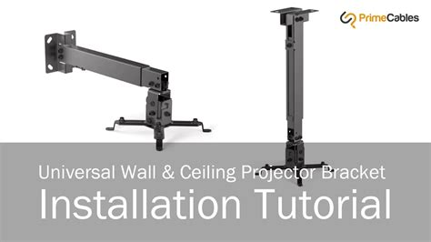 Mount A Projector To The Ceiling by How To Install Universal Wall Ceiling Projector Mount Primecables