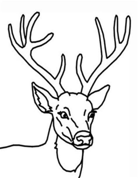 coloring page of deer head restlessrisa reindeer art tutorial