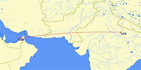 dubai  lucknow india flights