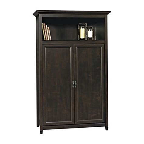 Computer Armoire Black by Sauder 174 Edge Water Computer Armoire 66 7 8 Quot H X 41 1 2 Quot W X 22 5 8 Quot D Estate Black