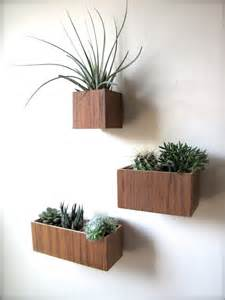 Wall Hanging Planters by Teak Wall Planters Hanging Planters Set Of 3 Planters