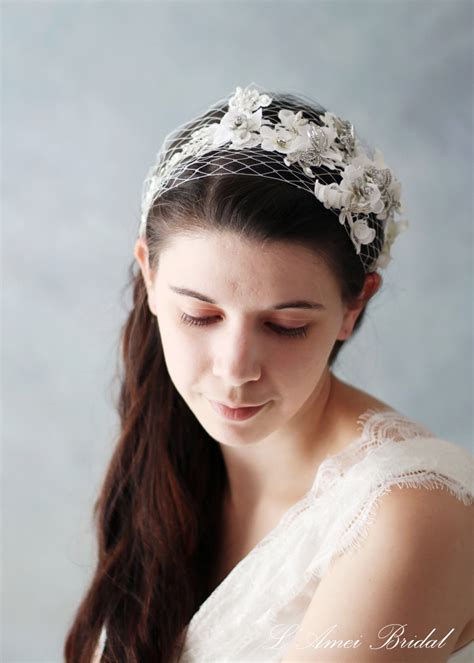 Wedding Hair With Bling by Wedding Hair Band With Small White Flowers Accented With