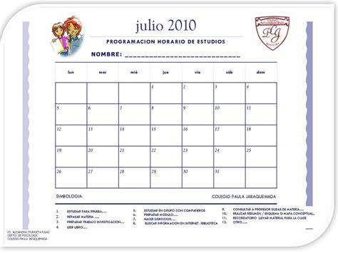 Calendario De Estudio Talleres Psicoeducativos Cpj Calendarios Planificacion