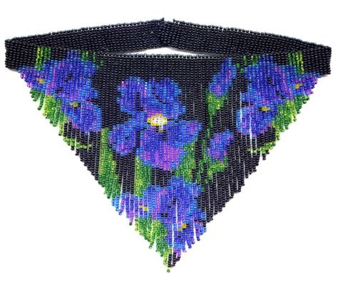 the beaded iris iris weave fringe necklace beading patterns and kits by