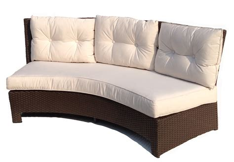 curved outdoor couch outdoor curved sofa 187 lake george outdoor wicker curved