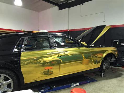 roll royce chrome tuningcars gold chrome rolls royce phantom