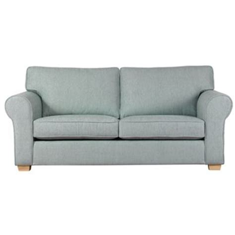 debenhams large pale blue aster sofa bed with light wood