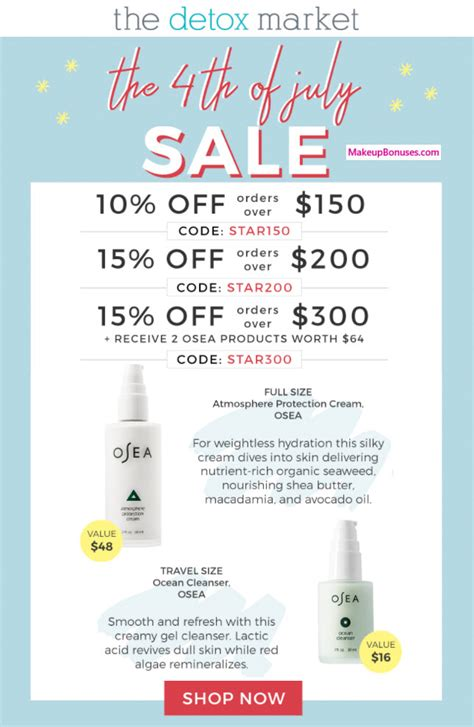 The Detox Market Sale by New Sales And Discounts Makeup Bonuses