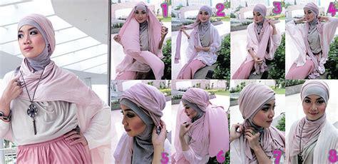 gambar tutorial hijab segi empat ala dian pelangi kreasi jilbab turban segi empat untuk pesta ala dian pelangi