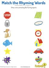 match the rhyming words 3 in this earlylearning