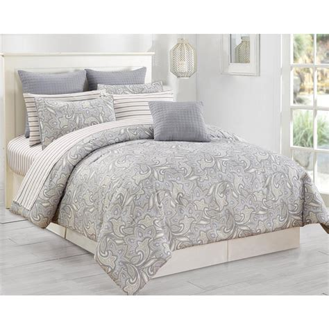 duck river comforter set duck river mathylda 10 piece taupe queen comforter set