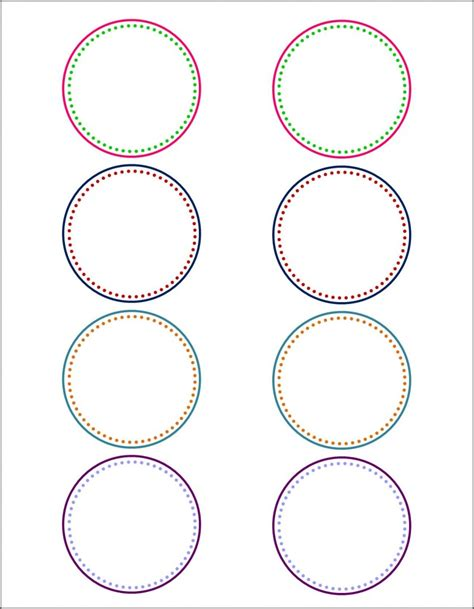 Circle Label Template Free labels on canning labels free label templates and canning jar labels