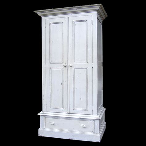 White Single Wardrobe With Drawers Antique White Single Wardrobe With 1 Drawer