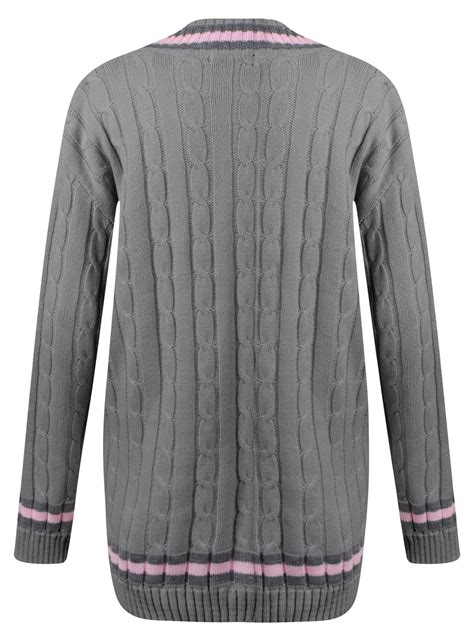 womens cable knit womens cable knit v neck stretch onesize