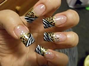 zebra slash cheetah print nail art gallery