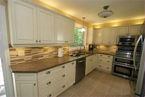 exceptional Kitchens With Oak Cabinets And White Appliances #5: cream-colored-kitchen-cabinets-with-white-appliances.jpg