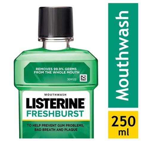 Listerine Fresh Burst 250 Ml buy listerine mouthwash freshburst 250 ml at best