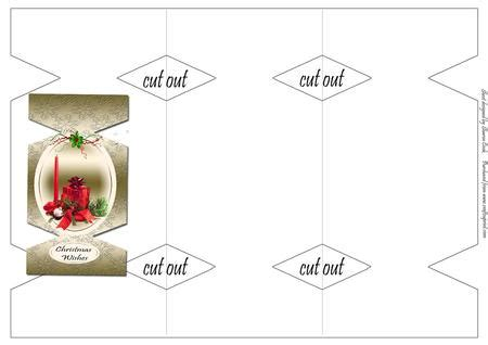 Blue Cracker Card Template by Tri Fold Cracker Shaped Card Template Cup360732 1779