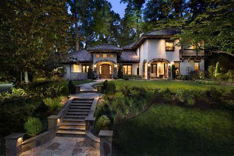 Mediterranean Ranch Style Homes - spanish colonial hacienda in buckhead lefko design build