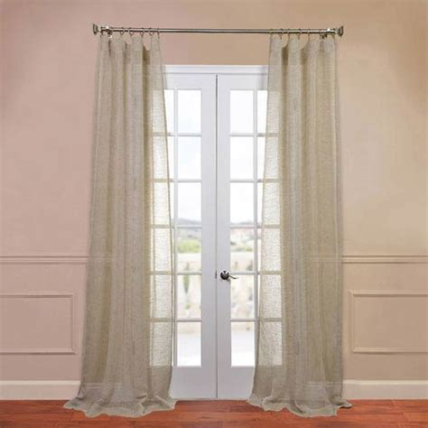 120 inch linen curtains open weave natural 50 x 120 inch linen sheer curtain half