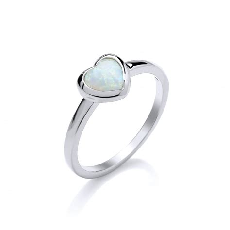 sterling silver and white opal ring by david deyong