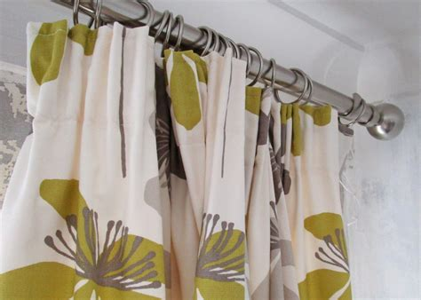 pencil pleat curtains on a pole customising ready made curtains drift studio