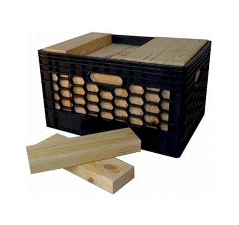 Cribbing Wood by Wood Cribbing 2x4x11 3 4 Quot 35 Pieces In Milk Crate