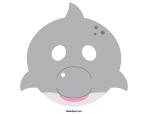 printable dolphin mask template printable dolphin mask
