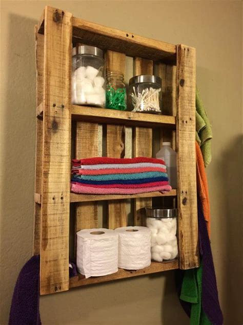 Bathroom Wall Mirror Ideas by Diy Pallet Bathroom Wall Hanging Shelf 101 Pallets
