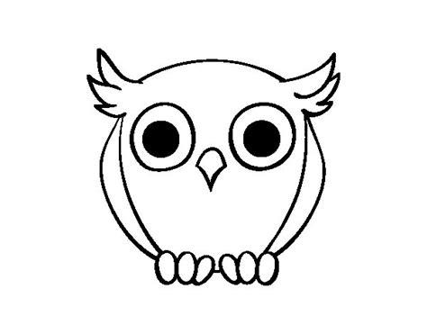 imagenes para dibujar buhos dibujo de b 250 ho nocturno para colorear dibujos net