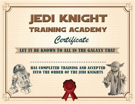 wars jedi certificate template free instant dl jedi certificate wars birthday by