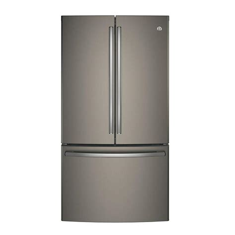 home depot slate ge 28 5 cu ft door refrigerator in slate