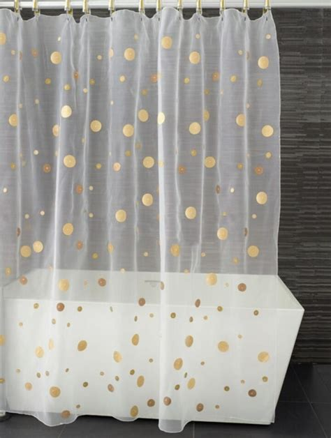 polka dot shower curtains gold polka dot shower curtain happyness pinterest