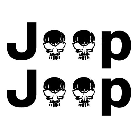 jeep stickers 2 jeep wrangler skull rubicon yk jk xj vinyl sticker decals