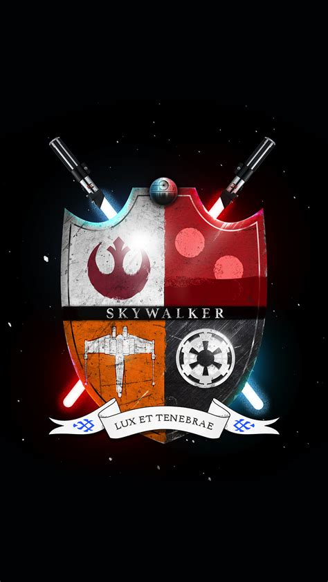wallpaper for iphone 5 star wars star wars family crest skywalker light and darkness iphone
