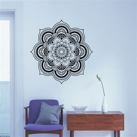 flower wall stickers for bedrooms removable mandala wall decal flower vinyl wall decor