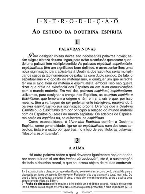 o Livro Dos Espiritos Comentado | Espiritismo | Alma