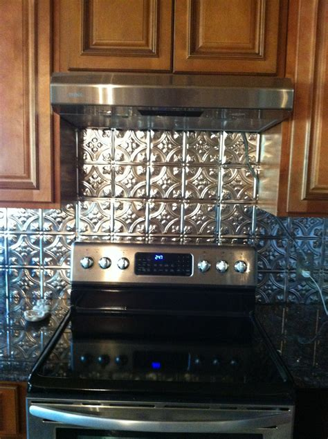 tin backsplash girly ecclectic modern and vintage