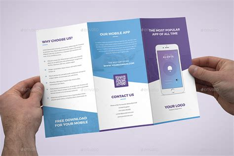 3 mobile app brochure mobile apps tri fold by artbart graphicriver