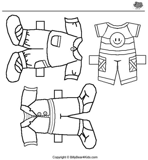 Paper Doll Clothes Coloring Pages by 7 Best Images About Boys Clothes On