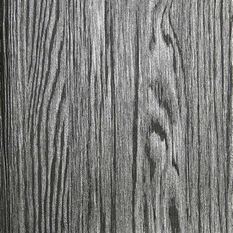 dark grey and silver textured wood grain wallpaper by