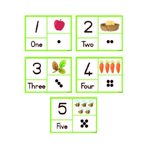 printable number flashcards 1 5 printable number cards with dots pictures to pin on