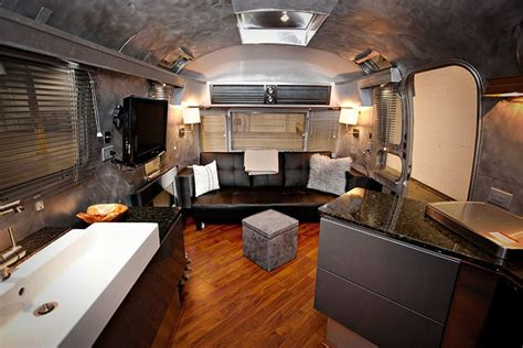 Airstream Interior Design by Restored Vintage Airstream Renovations Trailers For Sale