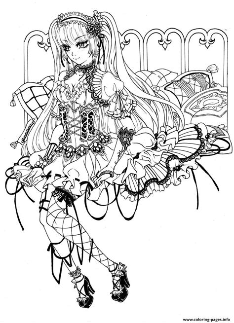 Gothic Fairy Coloring Pages Printable Free Printable Pictures