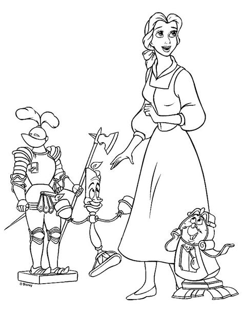 Beauty And The Beast Coloring Pages Coloring Pages To Print And The Beast Colouring Pages