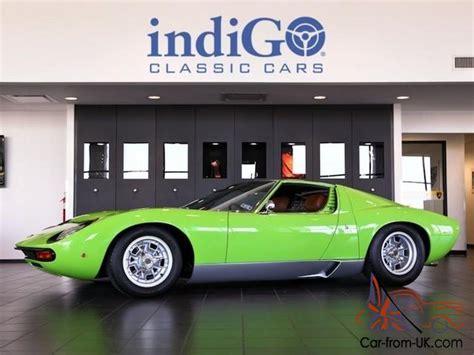 Lime Green Lamborghini For Sale Restored 1969 Lamborghini Miura P400s Sv Specification