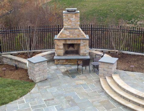 backyard stone fireplace outdoor fireplace ask the landscape guy