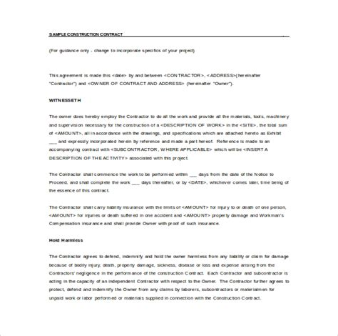 simple contract agreement template simple contract template 16 free documents in