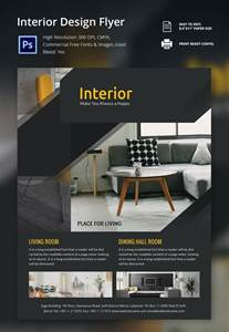 design a flyer template interior design brochure 25 free psd eps indesign